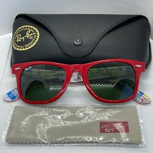 New/Authenthic Rayban Wayfarer 2140 Red Special